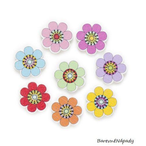 Květinové knoflíky dřevěné - 25mm 51af171d82f
